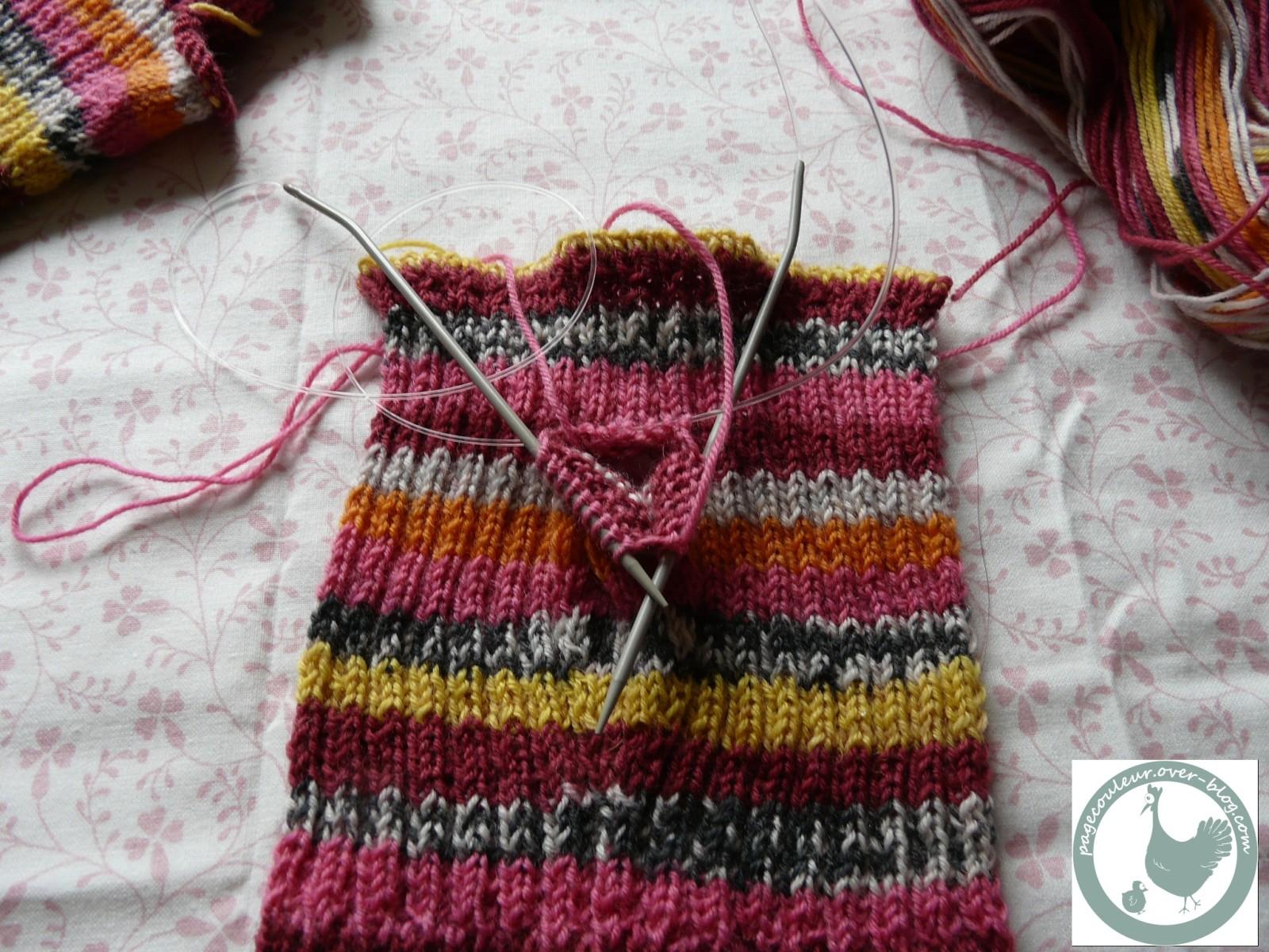 comment tricoter avec aiguille circulaire