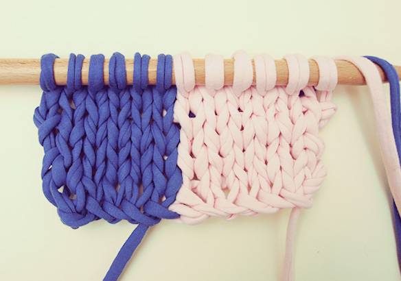 changer de laine dans un tricot