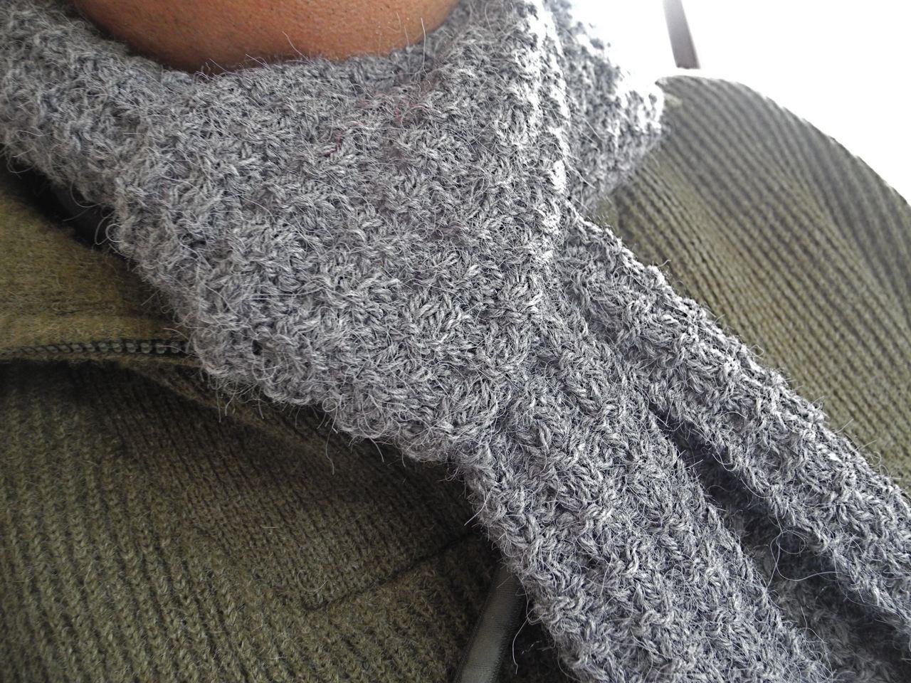 Tricot point r versible i love tricot - Point de tricot ajoure pour echarpe ...