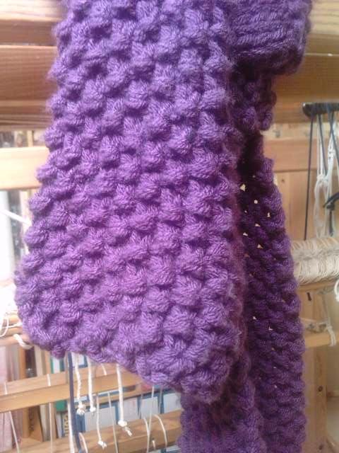 point de tricot pour écharpe - i love tricot