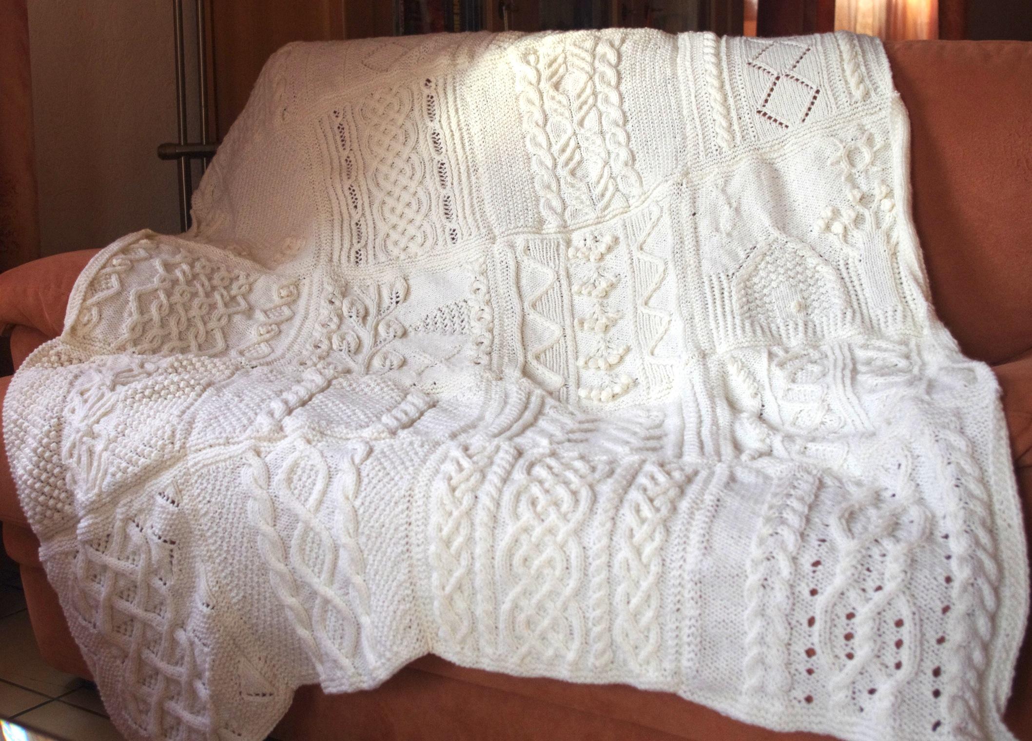 plaid irlandais tricot
