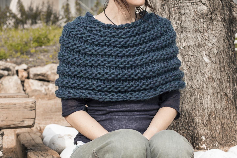 c30af3f84109 Tricoter une echarpe grosse laine   Espaceflirey