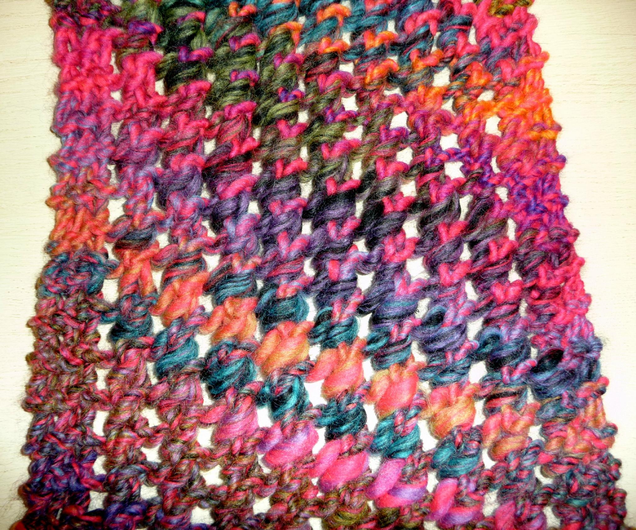 4323293535e09 Point de tricot fantaisie pour echarpe - i love tricot