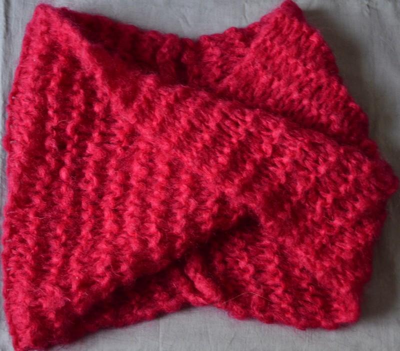 comment tricoter un snood point mousse i love tricot. Black Bedroom Furniture Sets. Home Design Ideas