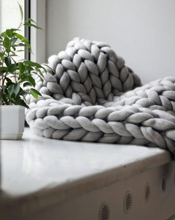 tricoter un plaid grosse laine i love tricot. Black Bedroom Furniture Sets. Home Design Ideas
