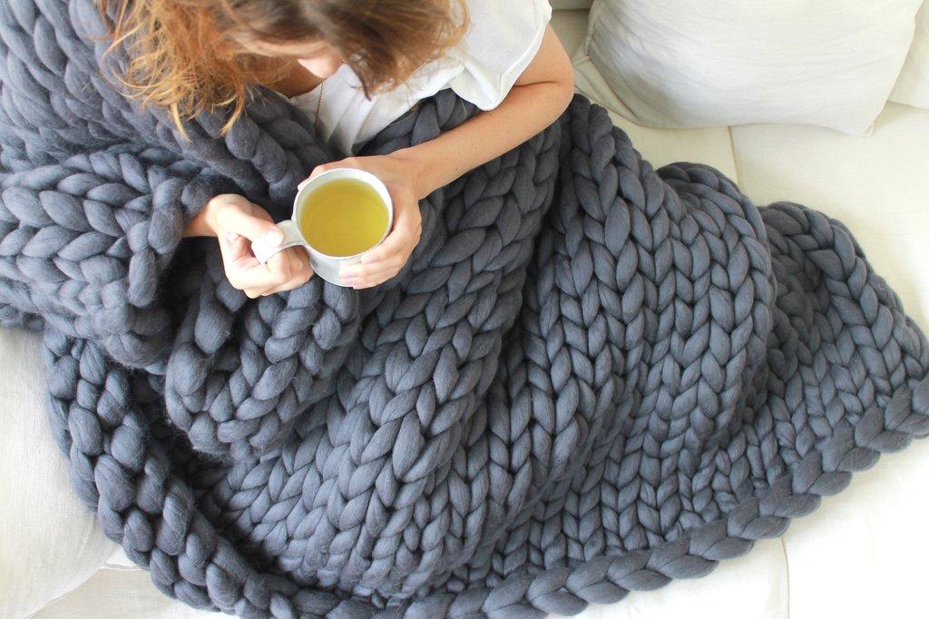 tricoter couverture grosse laine i love tricot. Black Bedroom Furniture Sets. Home Design Ideas