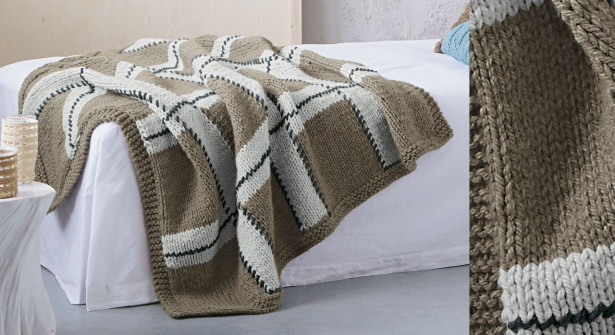 mod le de plaid tricoter gratuit i love tricot. Black Bedroom Furniture Sets. Home Design Ideas