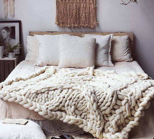 plaid tricot grosse maille i love tricot. Black Bedroom Furniture Sets. Home Design Ideas