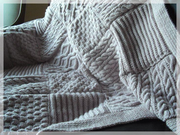 modele plaid en tricot i love tricot. Black Bedroom Furniture Sets. Home Design Ideas