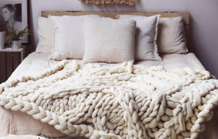 kit pour tricoter plaid