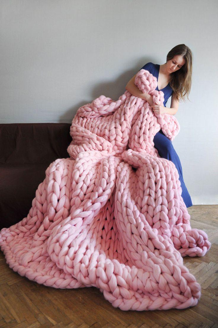 8b53ef3f6db Voici la sélection de plaid tricot pour vous     . Plaid tres grosse maille