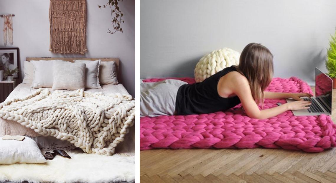 plaid grosses mailles i love tricot. Black Bedroom Furniture Sets. Home Design Ideas