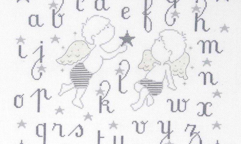 Broderie point de croix dmc - i love tricot